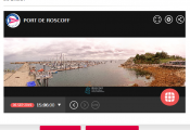 webcam port de Roscoff Bloscon